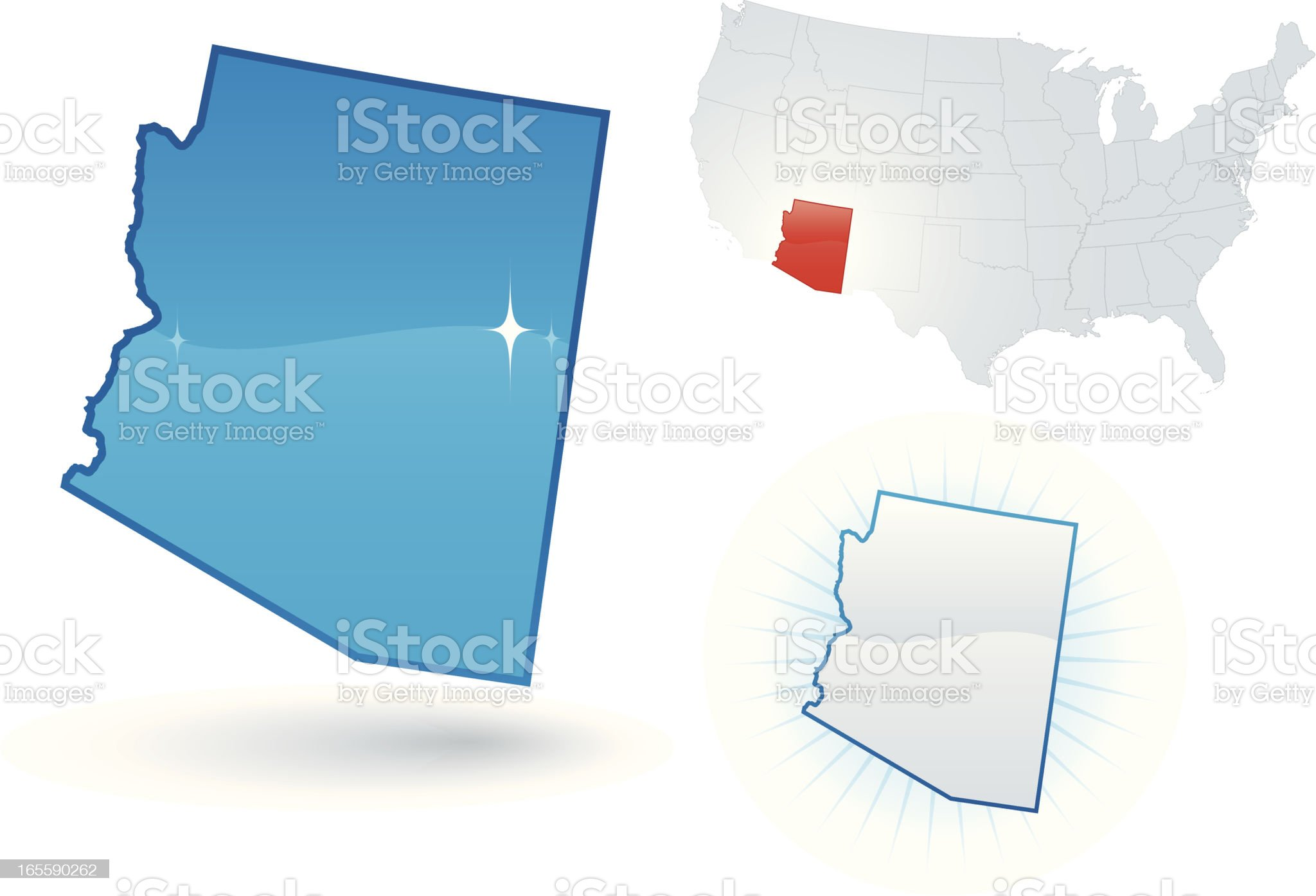 Arizona State royalty-free stock vector art