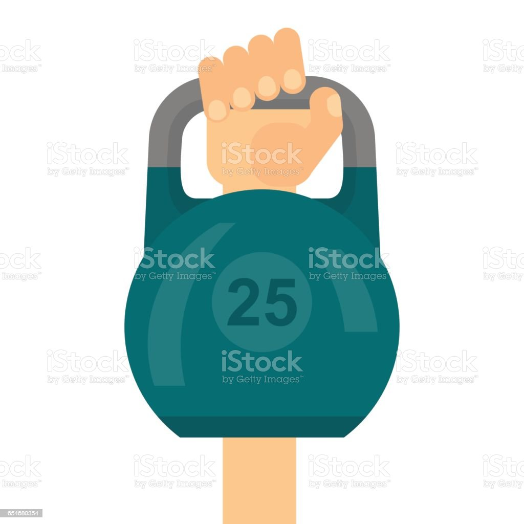 arm raises dumbbell vector art illustration