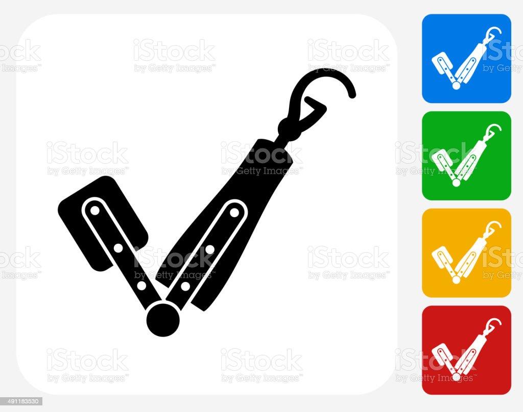 Arm Transplant Icon Flat Graphic Design vector art illustration