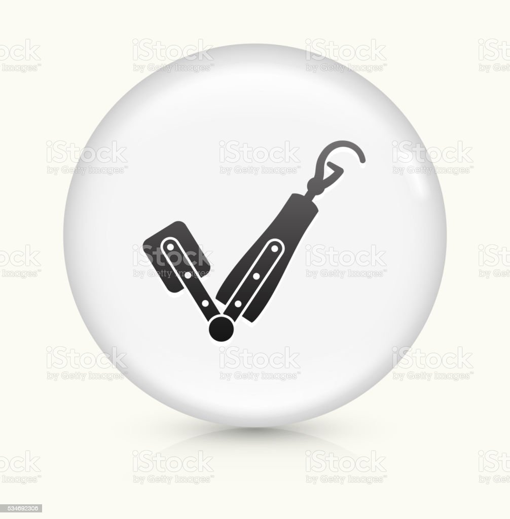 Arm Transplant icon on white round vector button vector art illustration