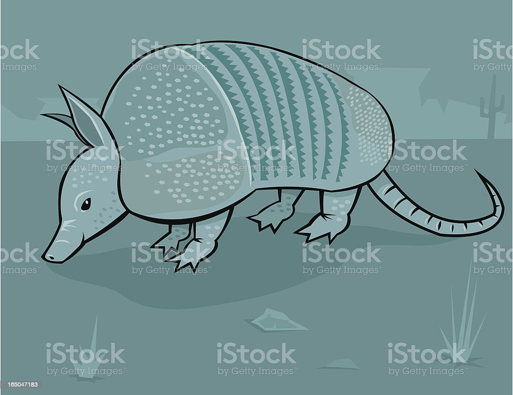 Armadillo royalty-free stock vector art