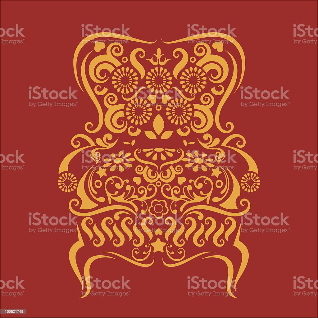 Armchair. royalty-free stock vector art