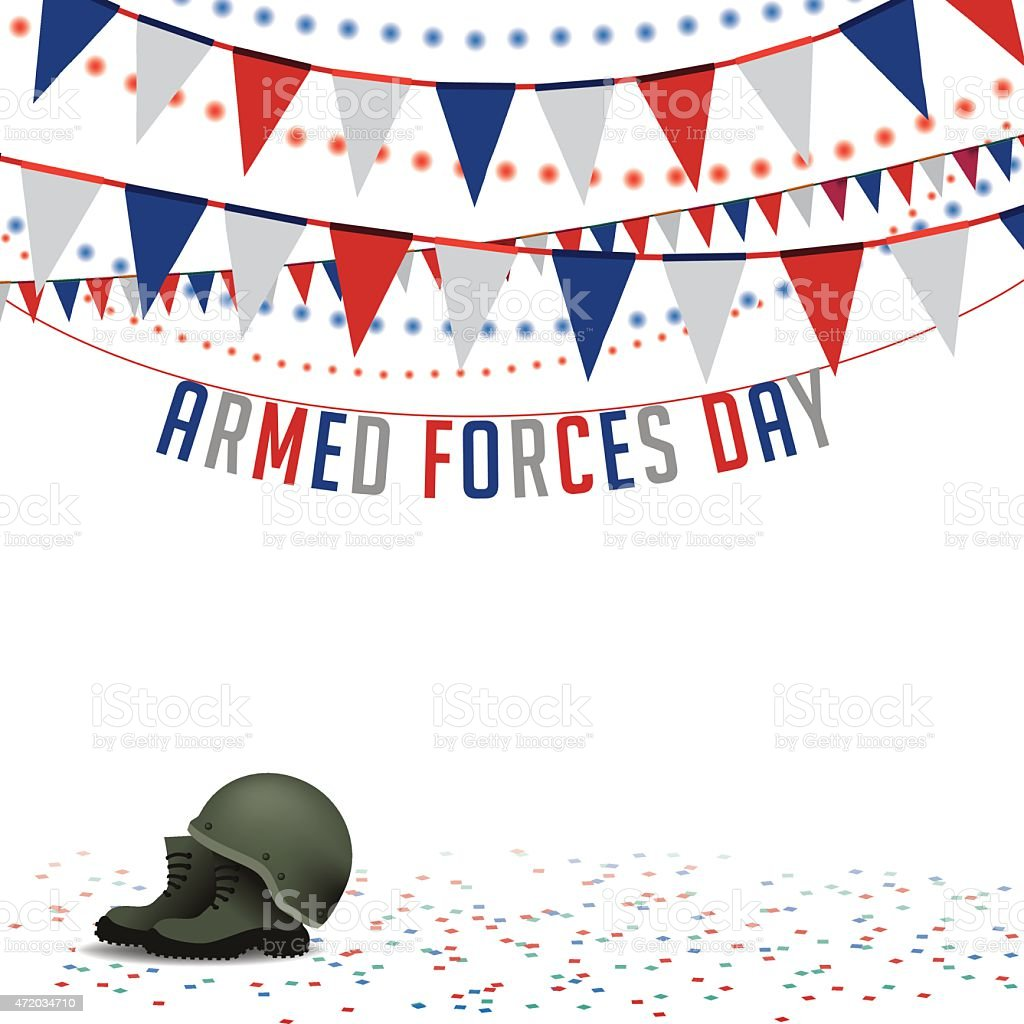 Armed Forces Day bunting background EPS 10 vector vector art illustration