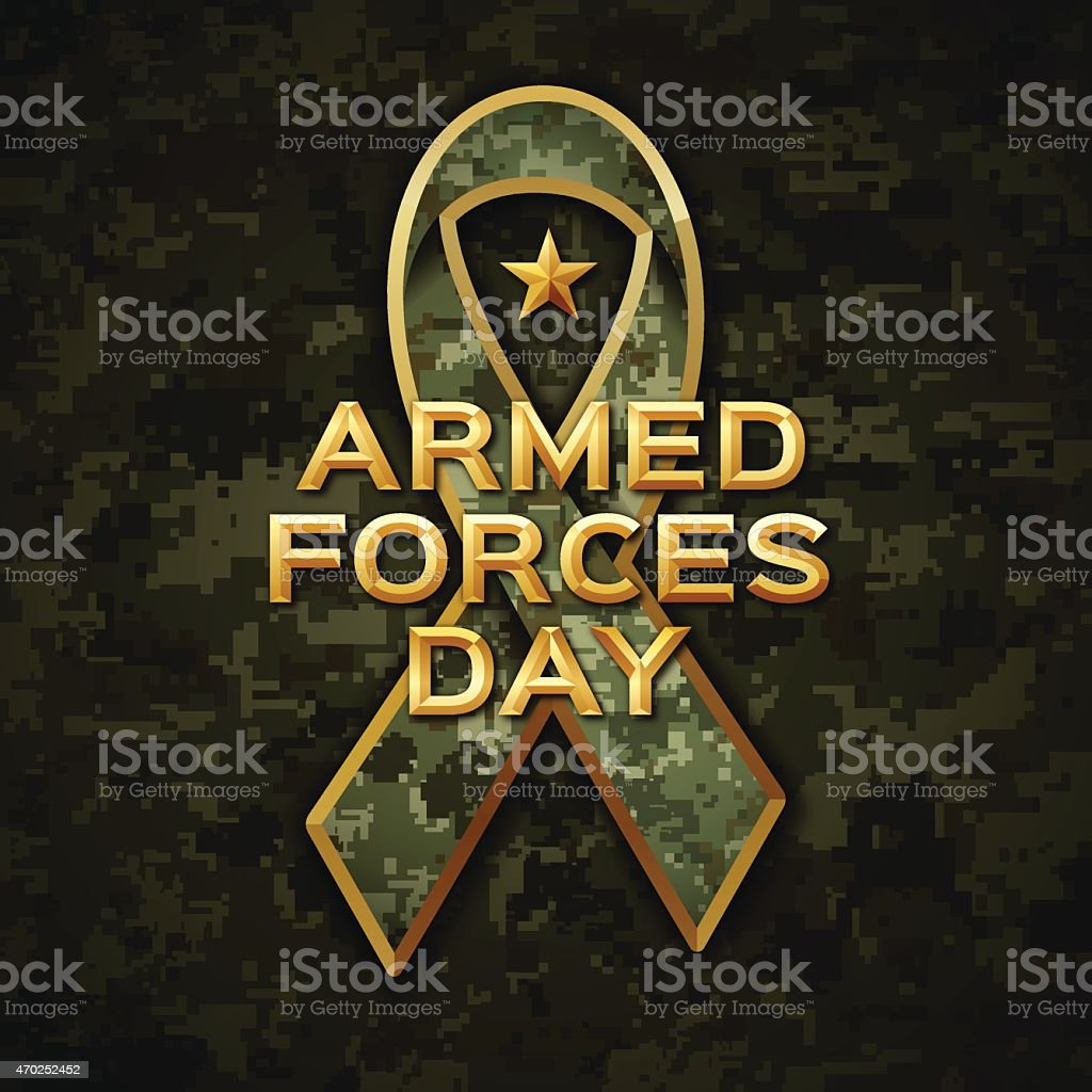 Armed Forces Day vector art illustration