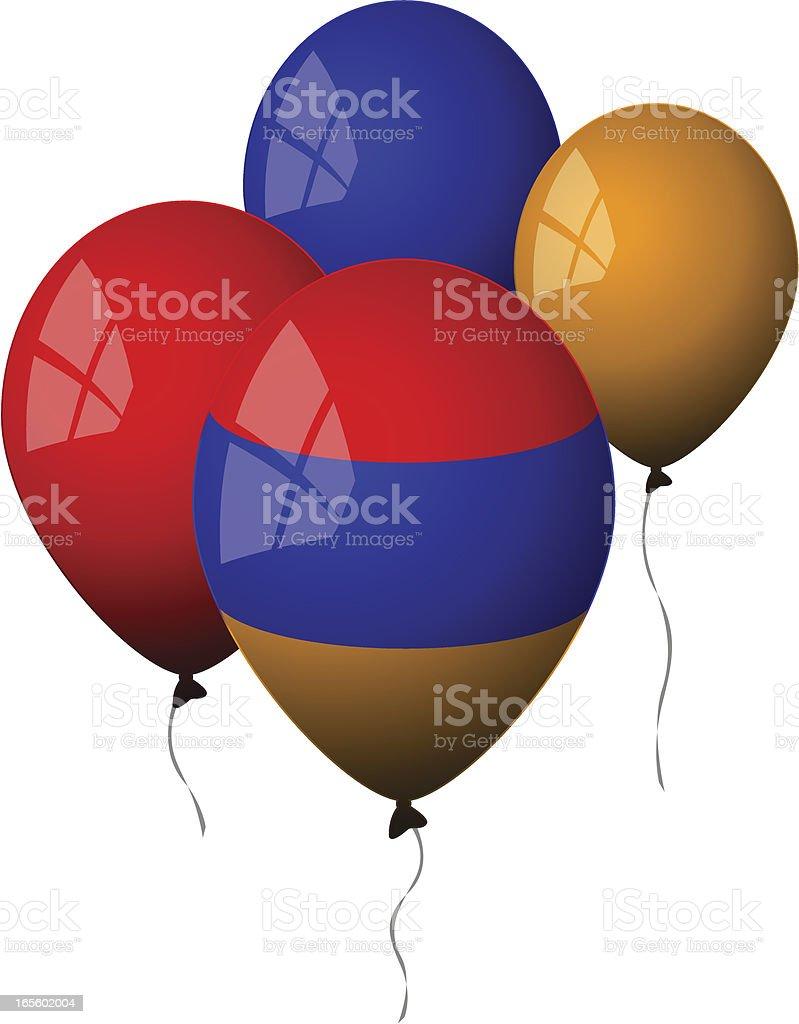 Armenia - Balloons royalty-free stock vector art