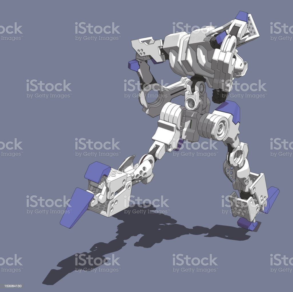 Armored Loader(running rear view) royalty-free stock vector art