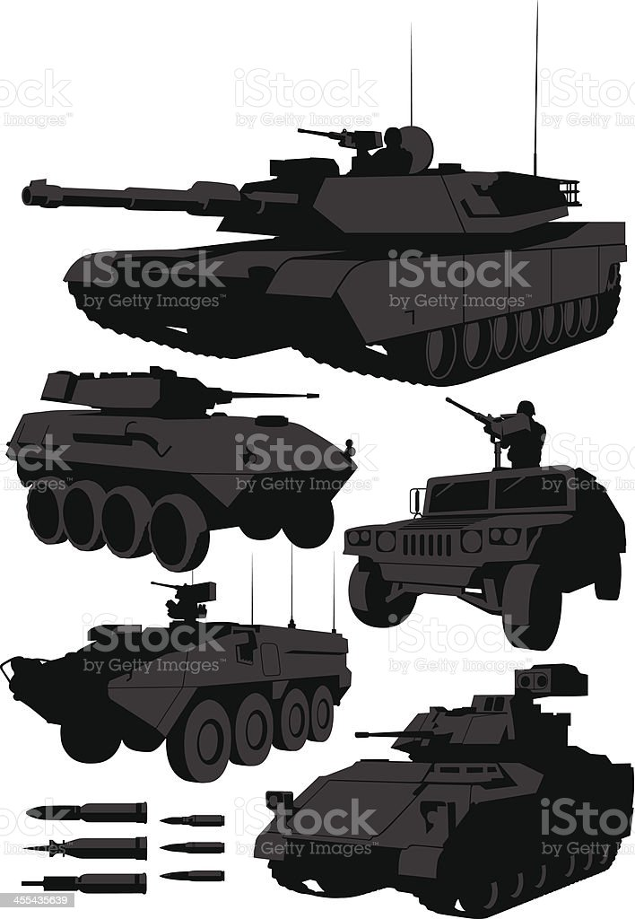 Armored Vehicles vector art illustration
