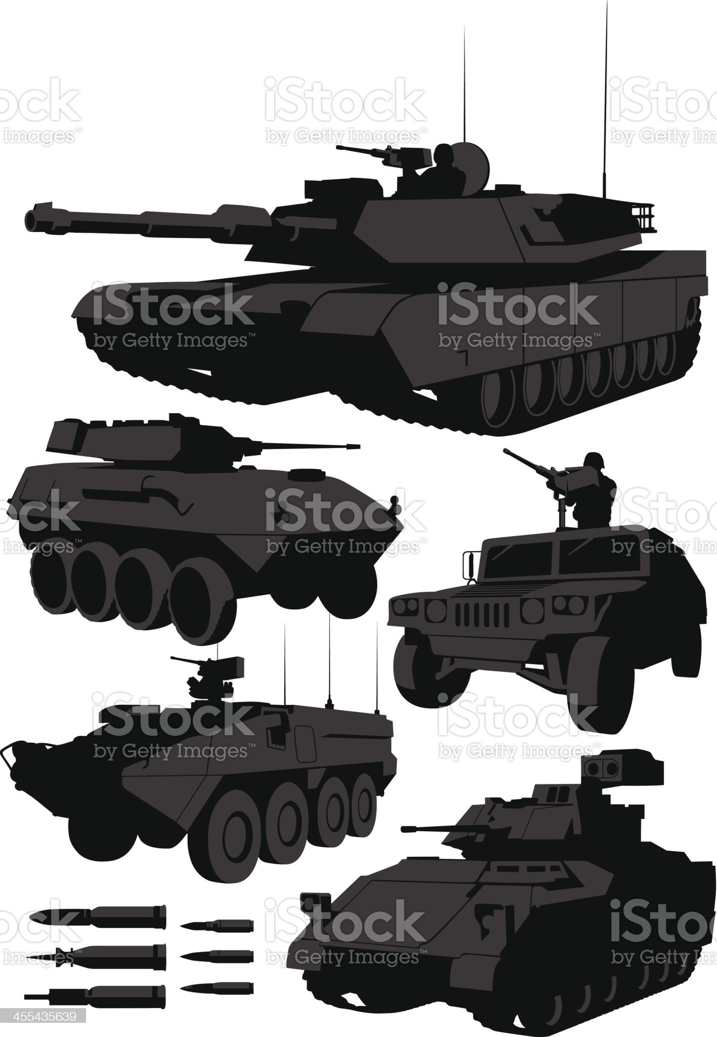 Armored Vehicles royalty-free stock vector art
