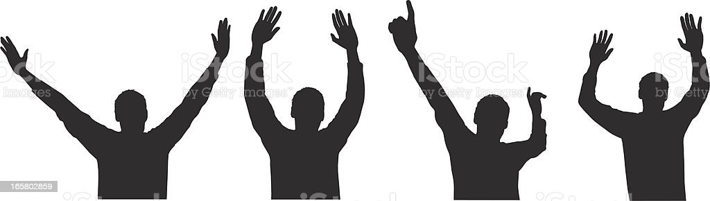 Arms Raised royalty-free stock vector art