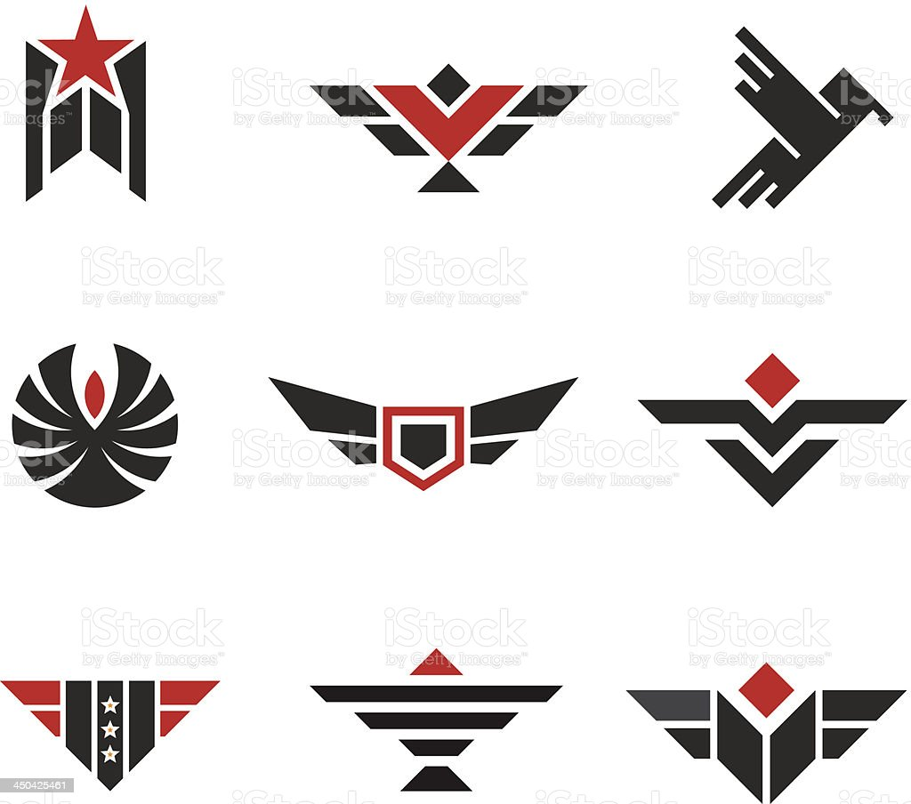 Army and military badges vector art illustration