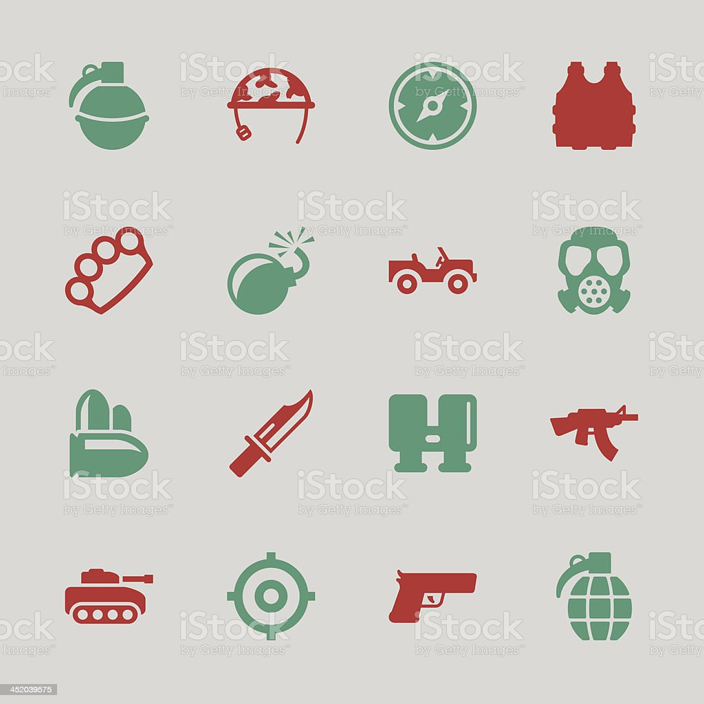 Army Icons - Color Series | EPS10 royalty-free stock vector art