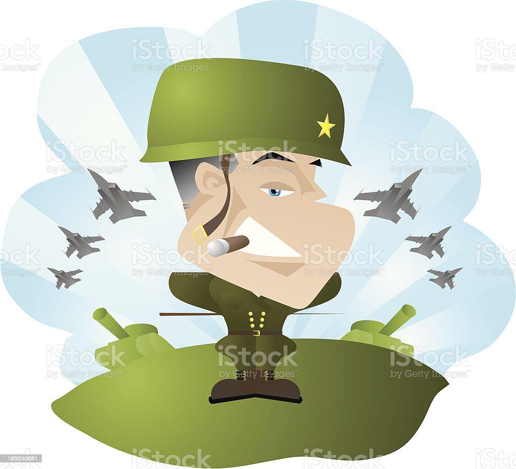 Army man general royalty-free stock vector art