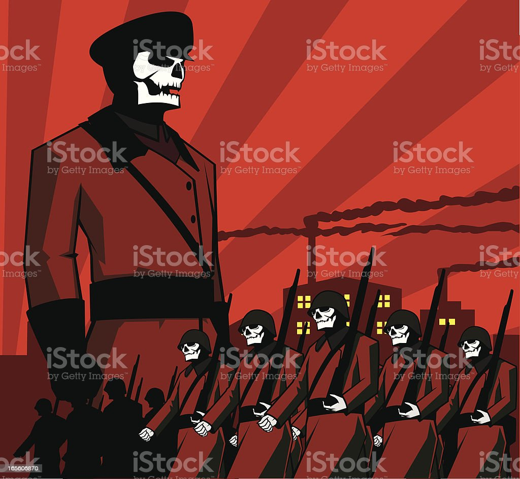 Army of Doom royalty-free stock vector art