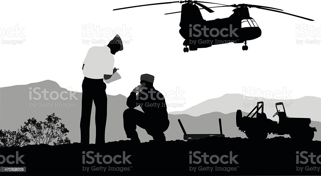 Army Transports royalty-free stock vector art