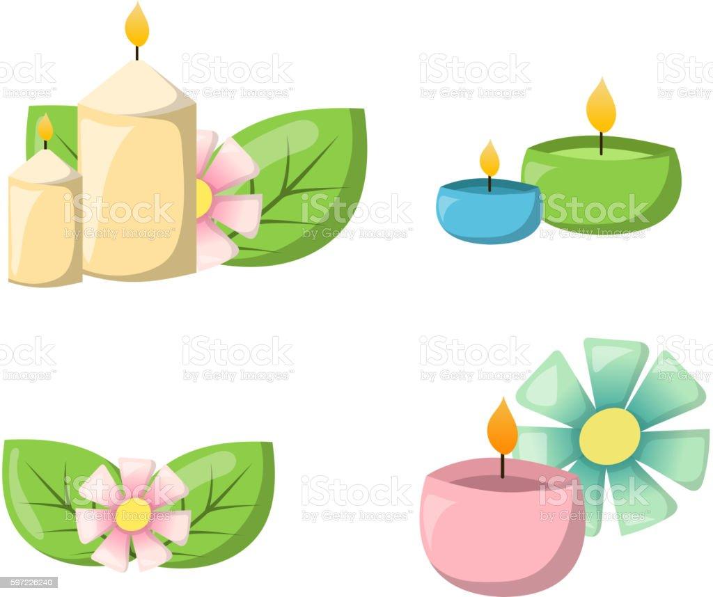 Aroma candle vector illustration. vector art illustration