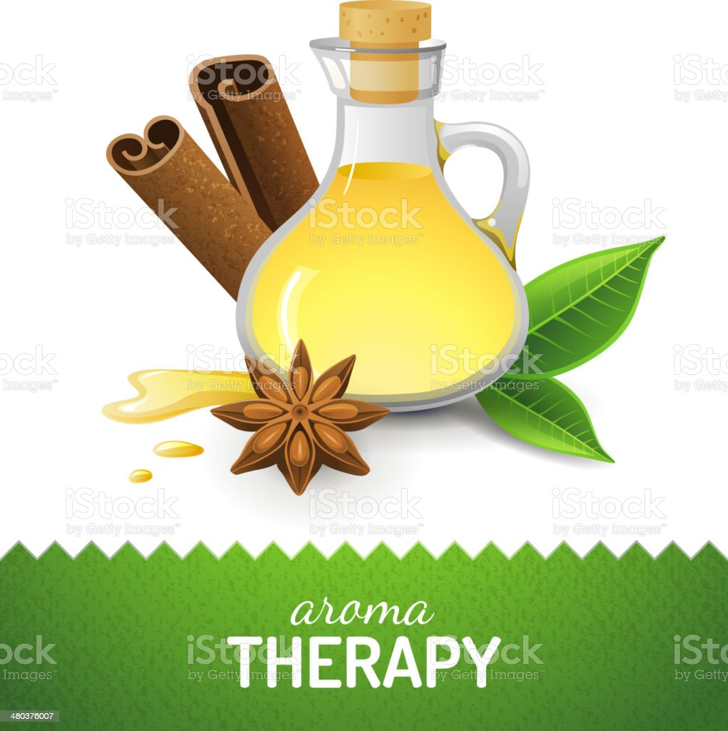 Aroma teraphy icon vector art illustration