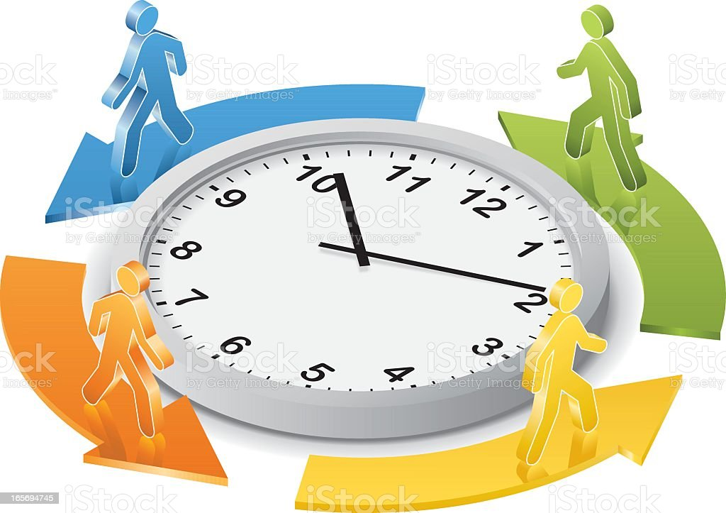 Around the Clock royalty-free stock vector art