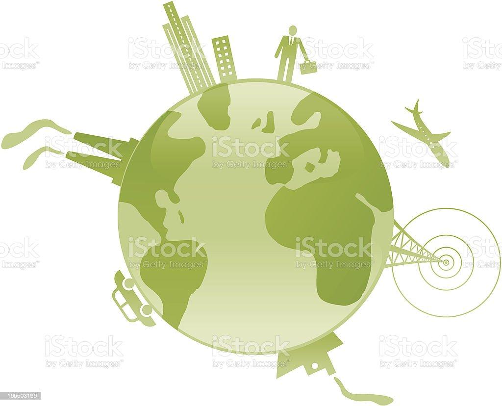Around the world. royalty-free stock vector art