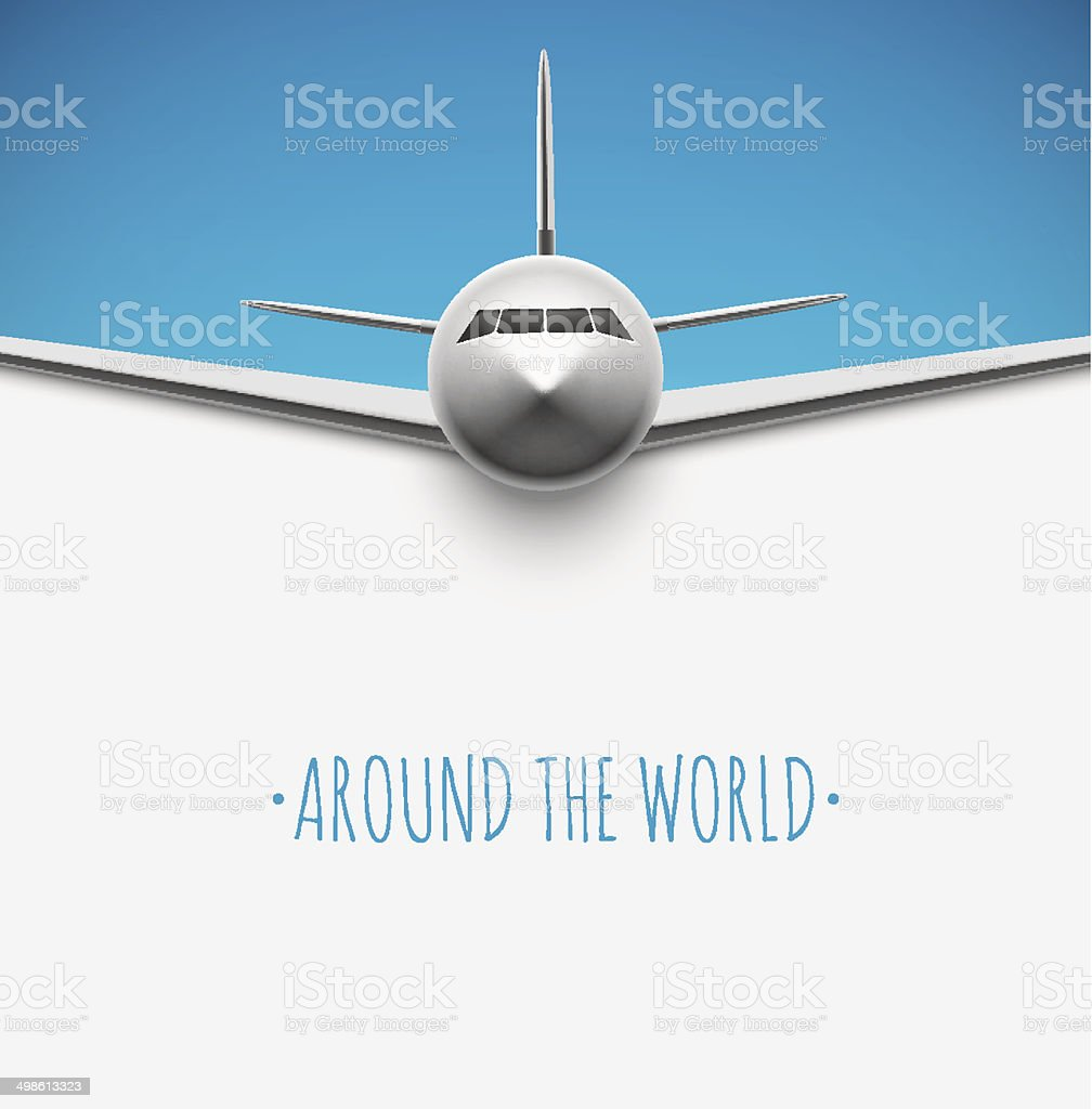 Around the world vector art illustration