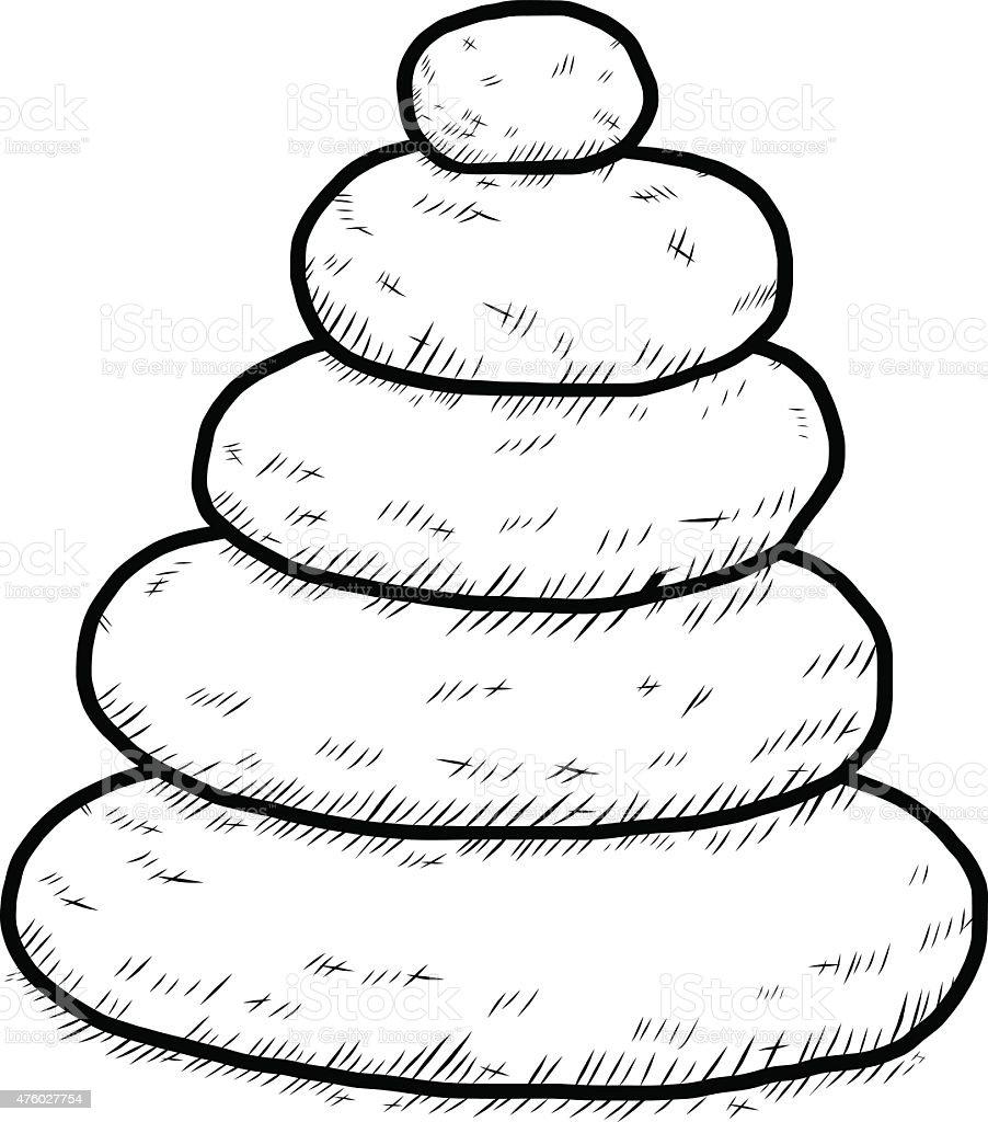 arranged stones vector art illustration