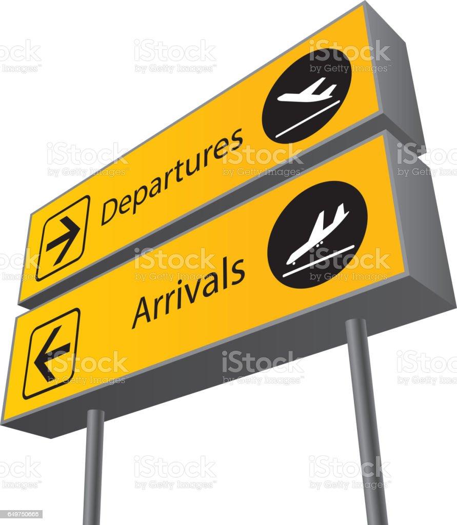 arrival departure board vector art illustration