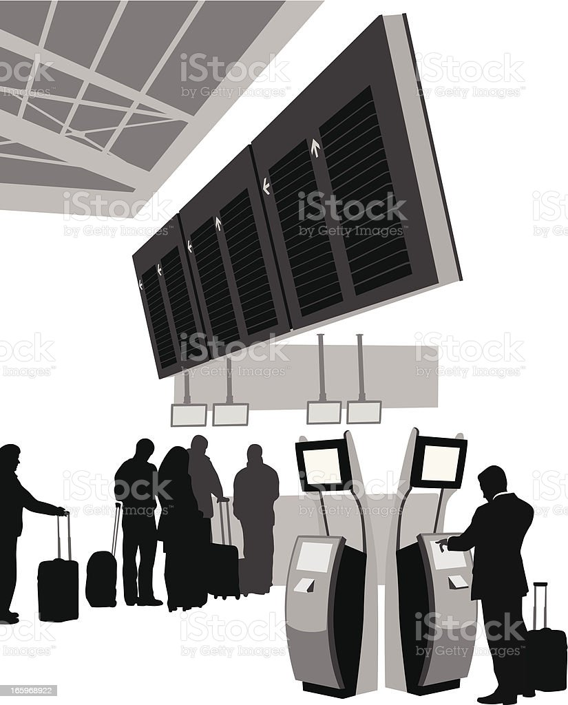 Arrivals Departures Vector Silhouette royalty-free stock vector art