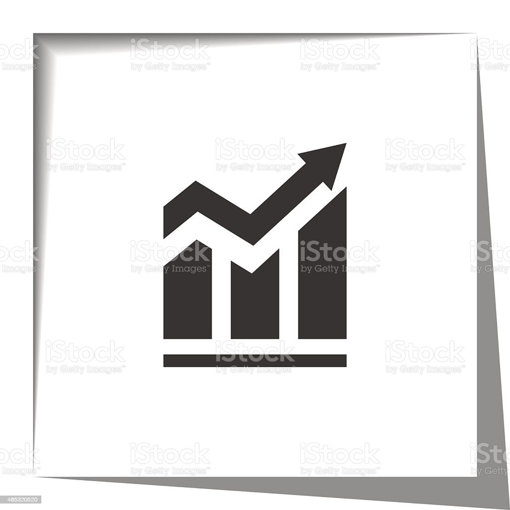 Arrow and bar chart pointing up. vector art illustration