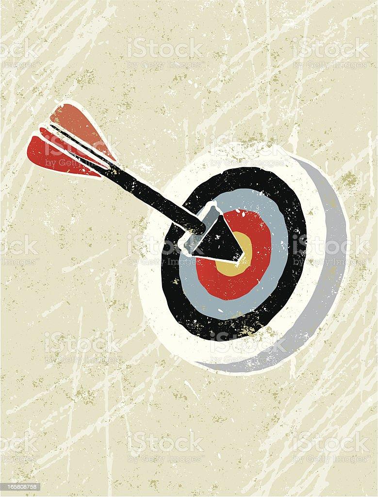 Arrow and target, bull's-eye! royalty-free stock vector art