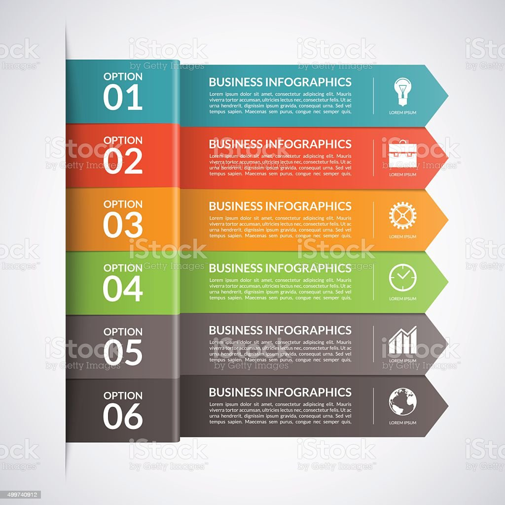 Arrow business infographics template. Vector vector art illustration