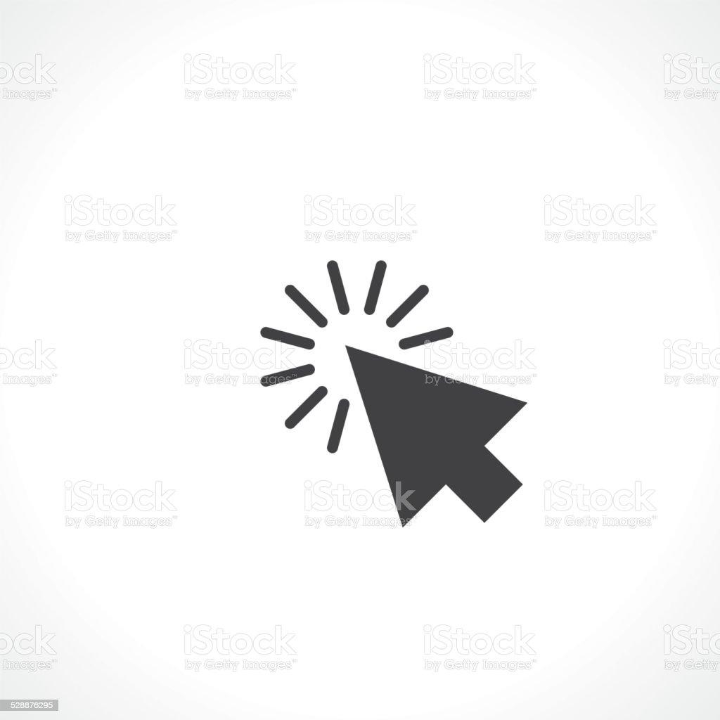 arrow click vector art illustration