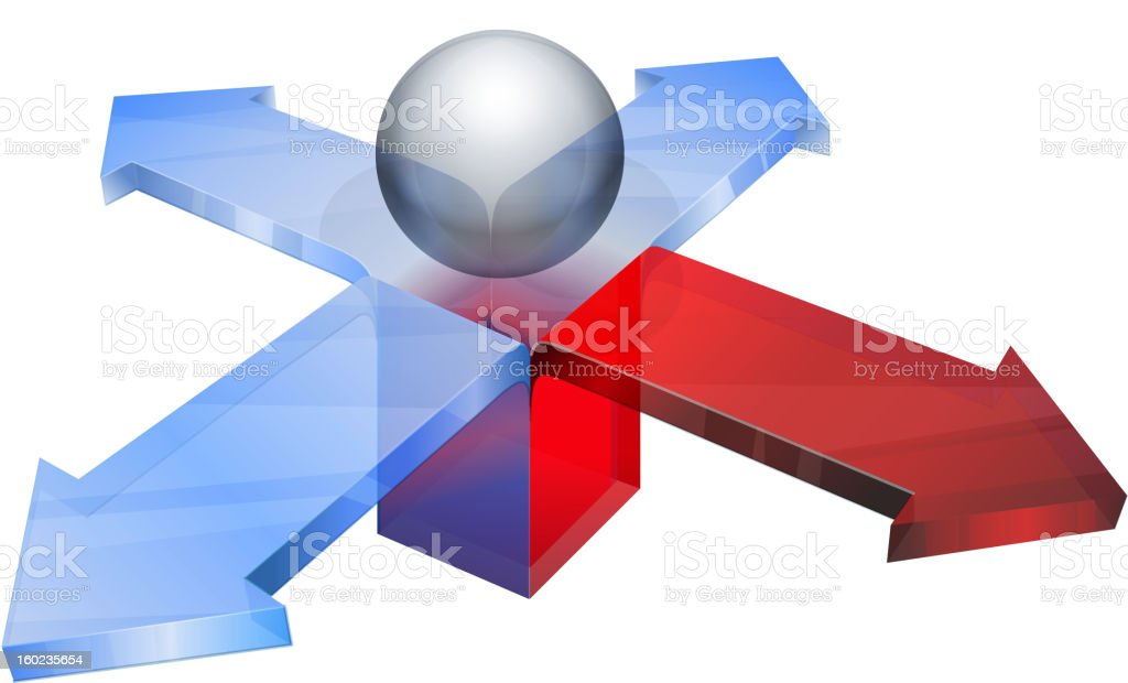 Arrow coming out of box royalty-free stock vector art