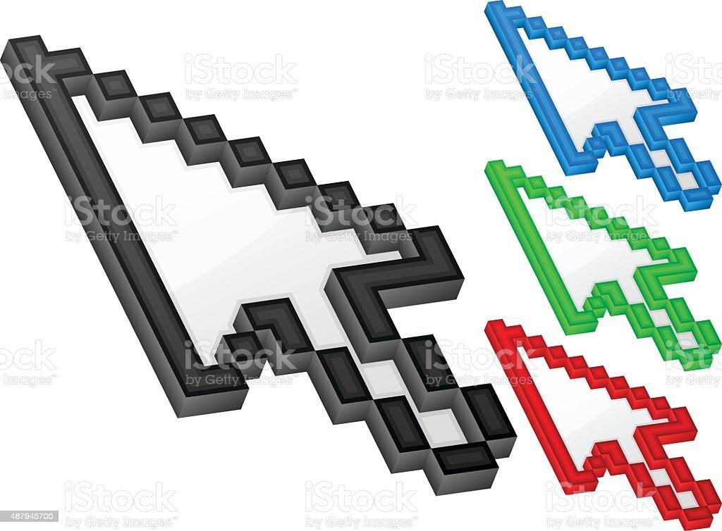 3d Arrow Computer Cursor Stock Vector Art 487945700 Istock