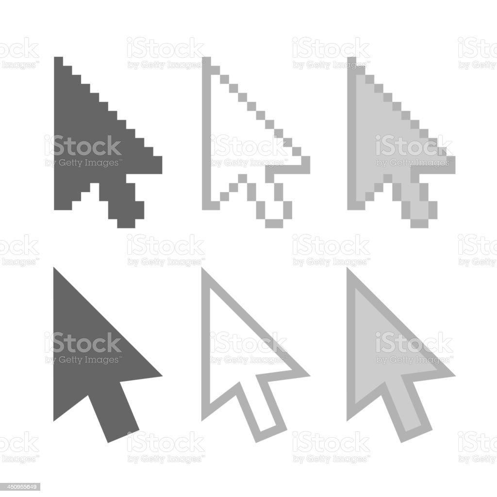Arrow cursors royalty-free stock vector art