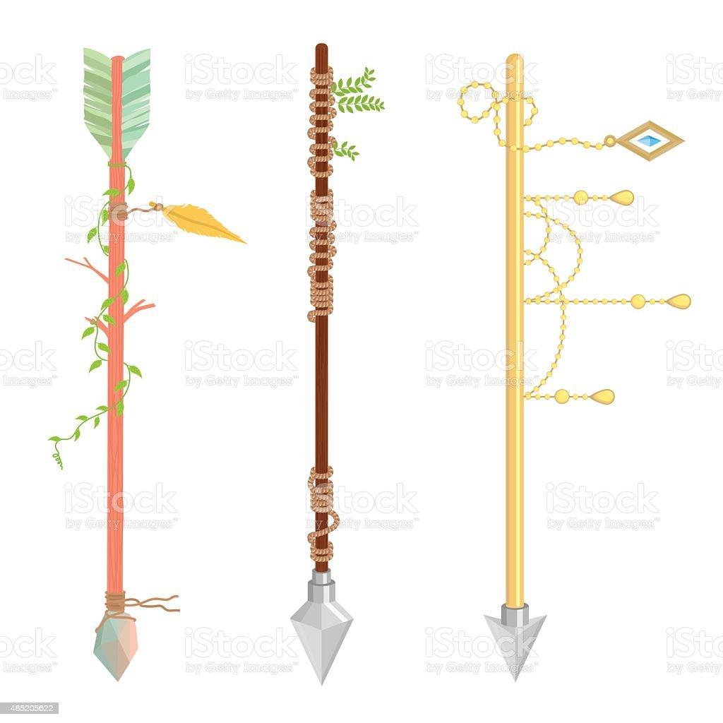 Arrow design - A set of cute hipster arrows vector art illustration