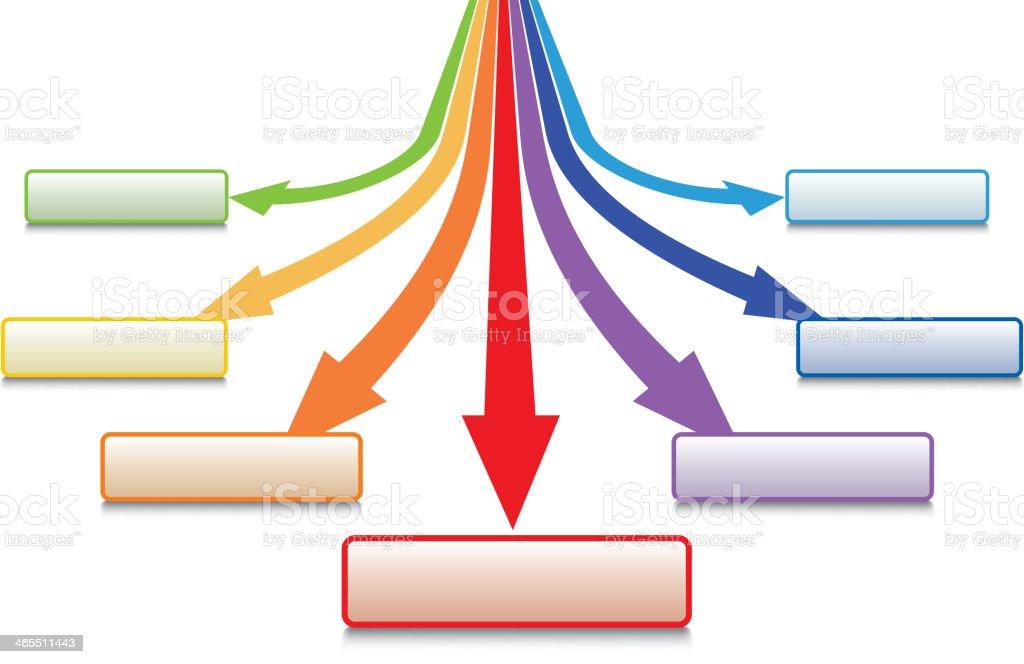 Arrow dispersion royalty-free stock vector art