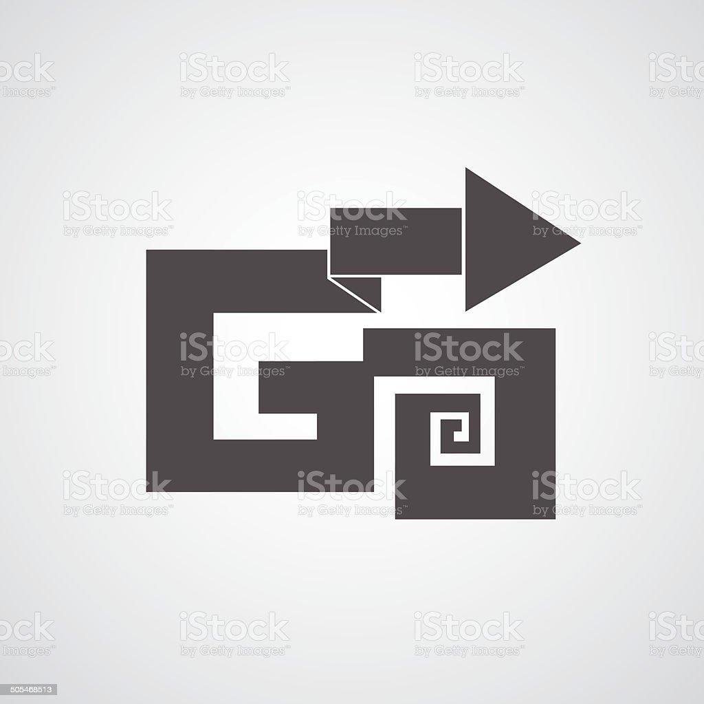 arrow go to goal vector art illustration