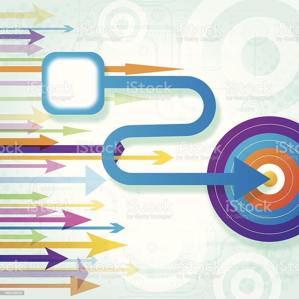 Arrow Hitting Target - Business Goal Background royalty-free stock vector art