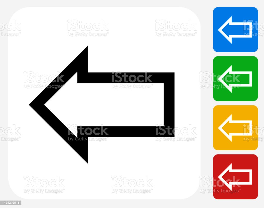 Arrow Icon Flat Graphic Design vector art illustration