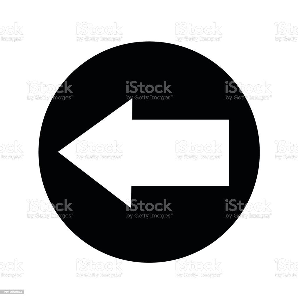arrow icon illustration design vector art illustration