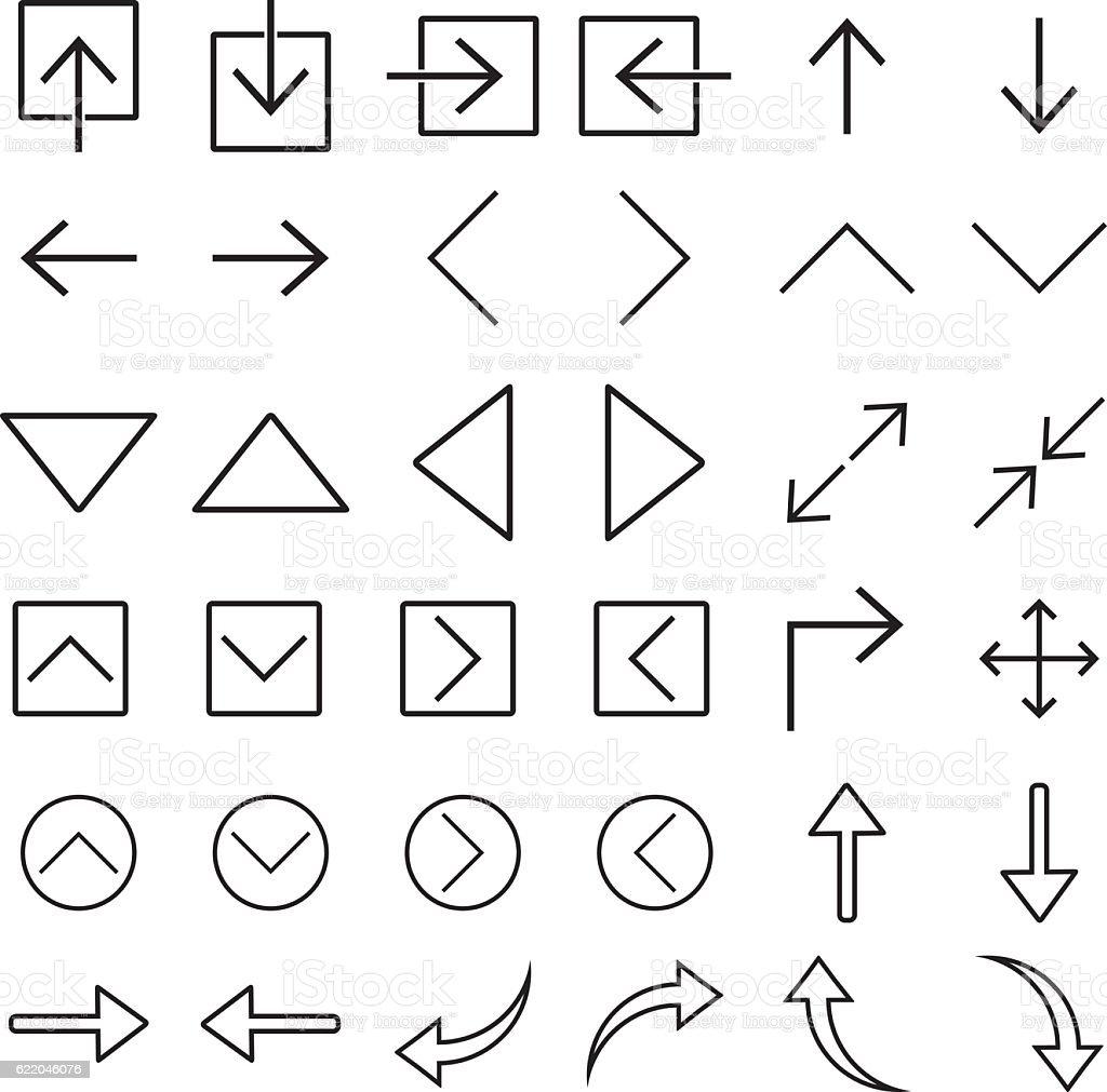 Arrow Icon Set Vector Illustration vector art illustration