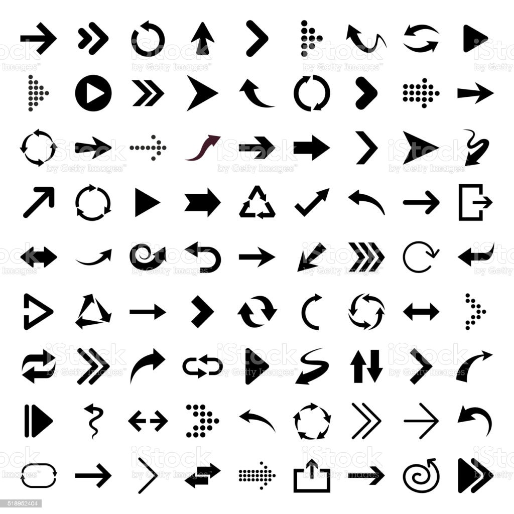 Arrow icons - Illustration royalty-free stock vector art