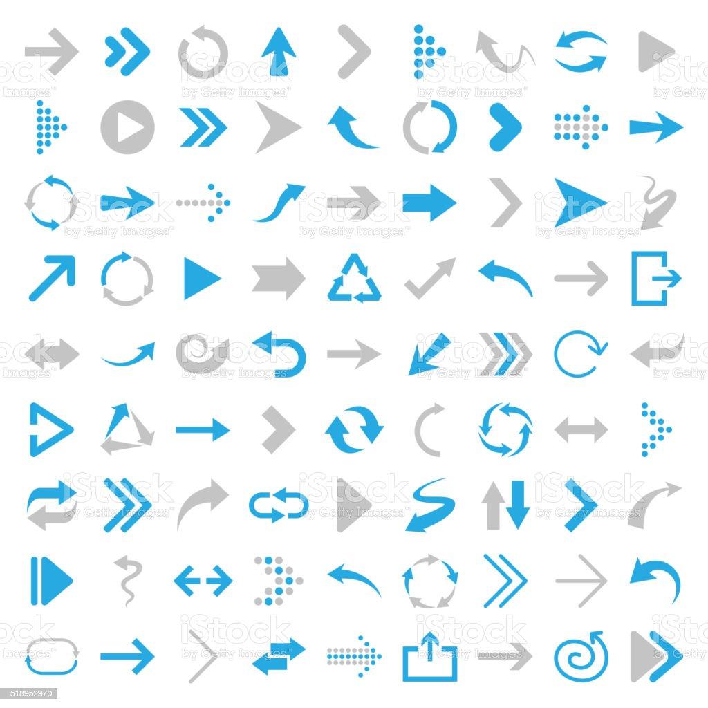 Arrow icons - Illustration vector art illustration