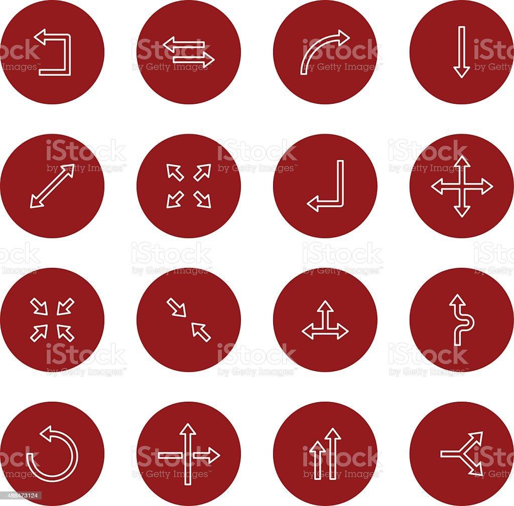 Arrow Icons | set 1 - Light - Circle vector art illustration
