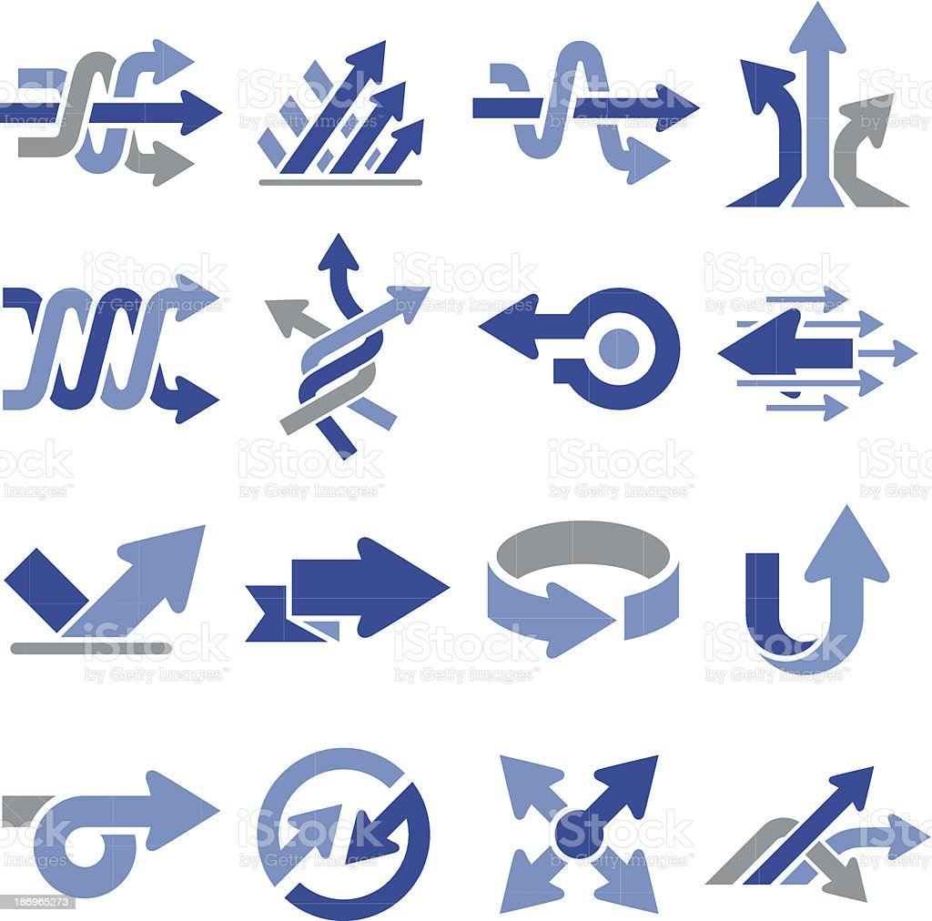 Arrow Icons Three - Pro Series vector art illustration