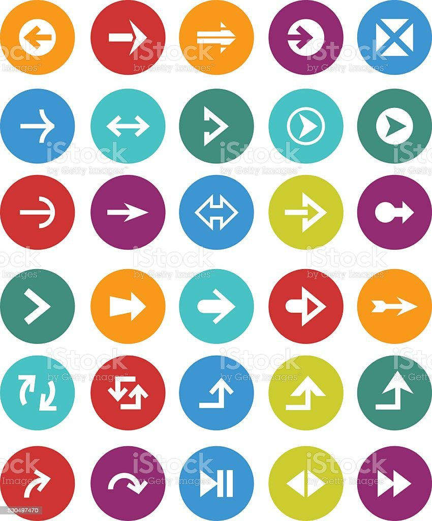 Arrow icons vector art illustration