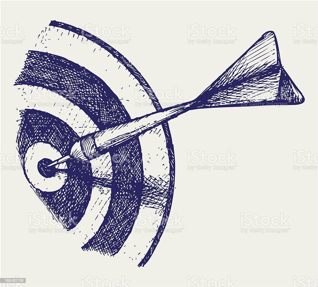 Arrow in target royalty-free stock vector art