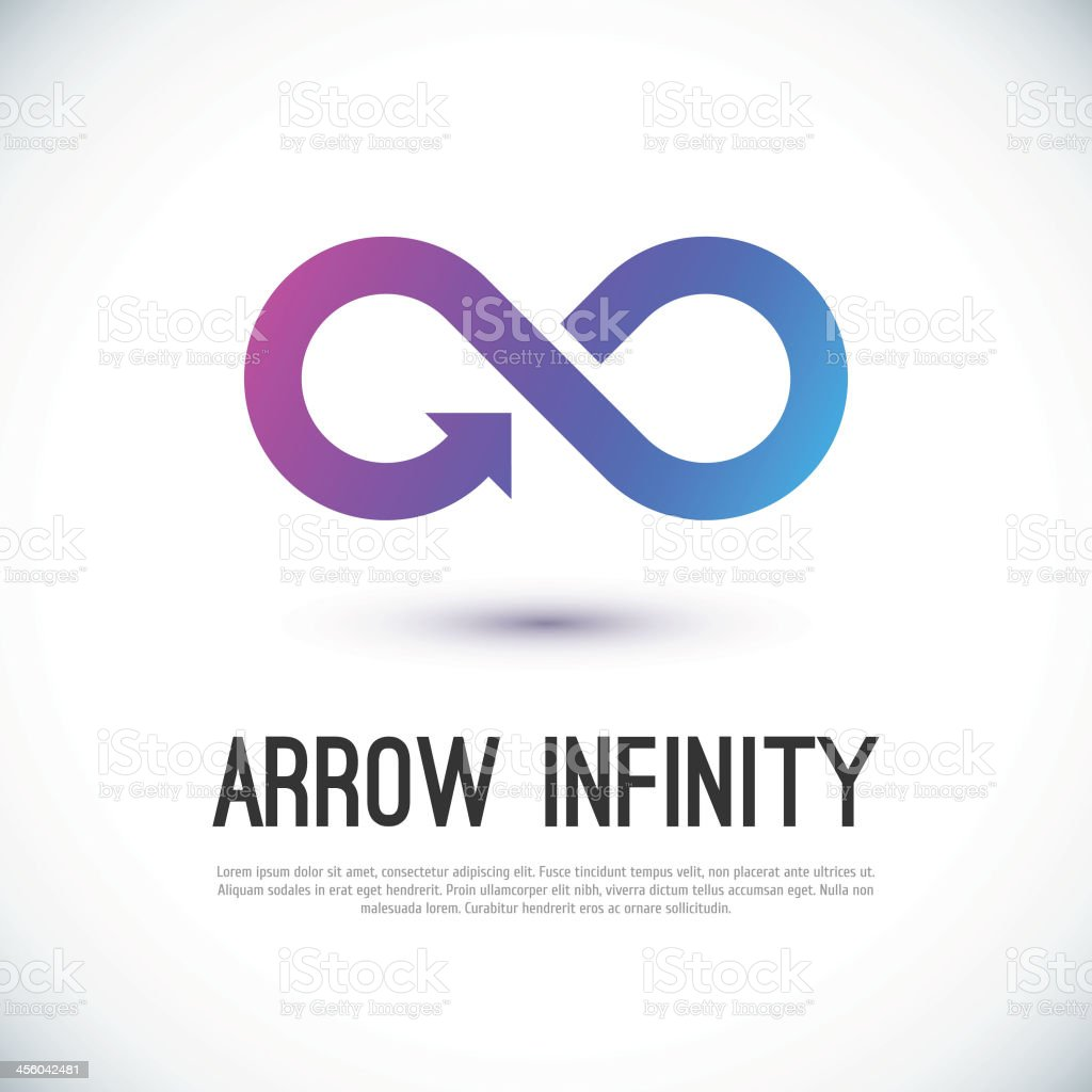 Arrow infinity business vector logo vector art illustration