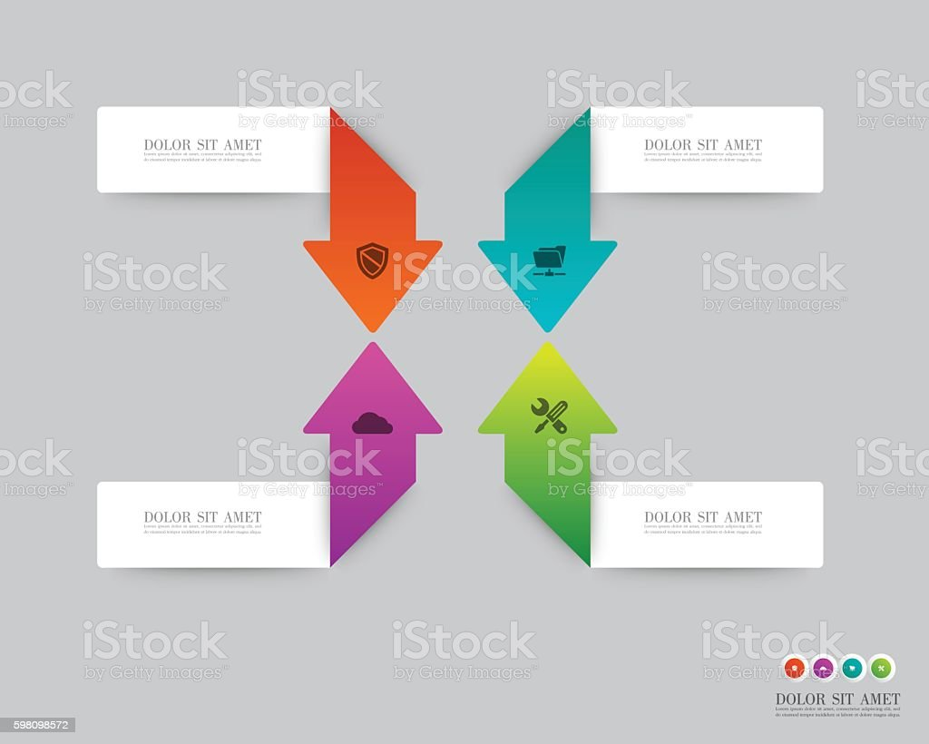 Arrow infographic Vector. vector art illustration
