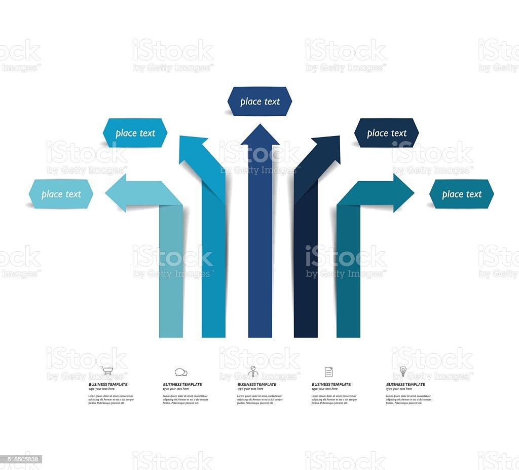 Arrow infographics scheme, diagram, chart, flowchart. Vector. vector art illustration