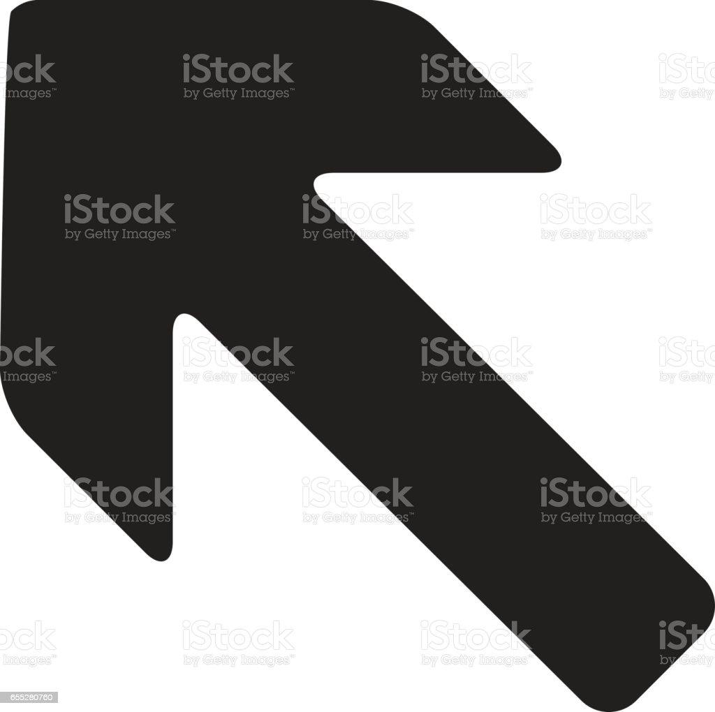 Arrow Left vector icon vector art illustration